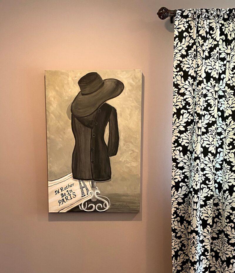 art - commission mannequin hat paris by debbie viola