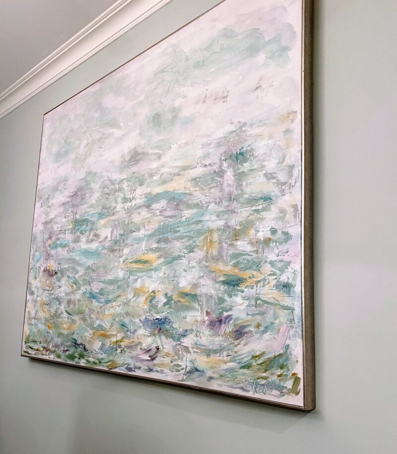 art - large abstract coastal texture by debbie viola