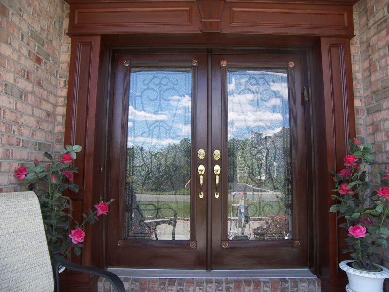 exterior door trim after