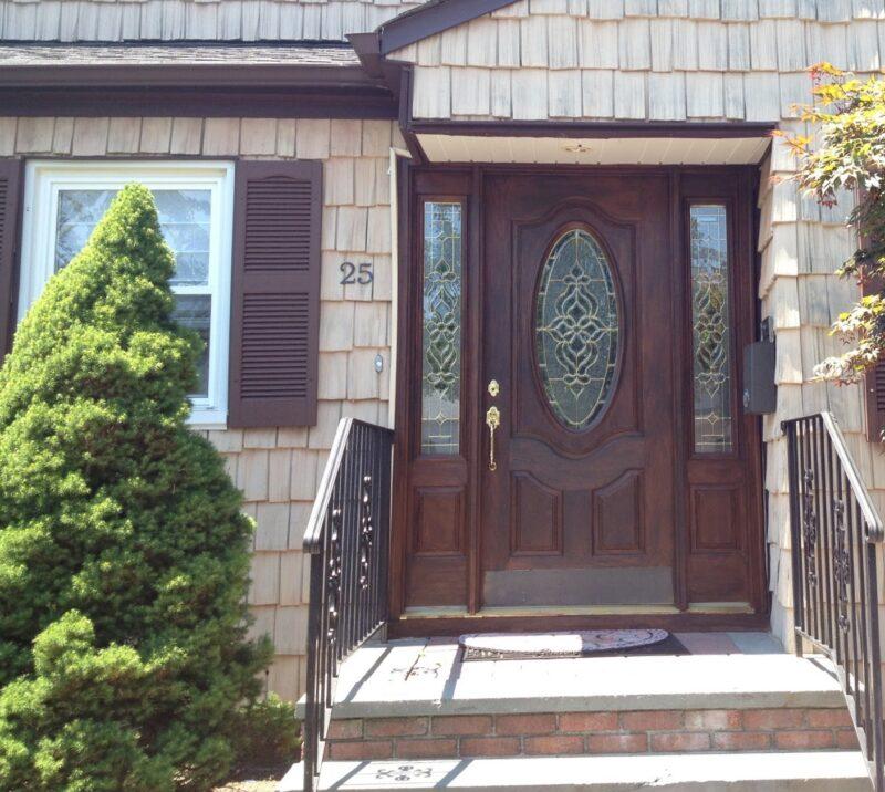 exterior door woodgrain by debbie viola